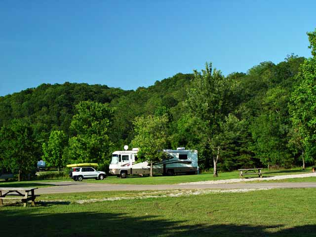 This Is Our Campsite At Beach Fork State Park Just Outside Of Huntington.